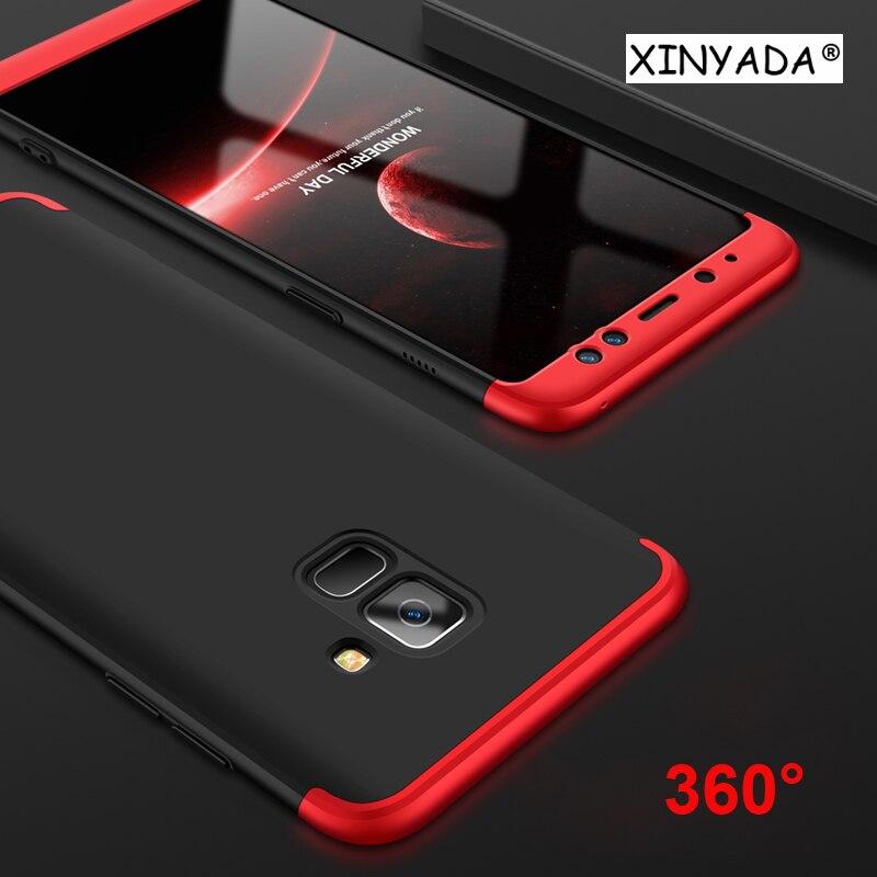 Xinyada для samsung Galaxy A8 плюс 2018 чехол 360 полная защита + ультра тонкий чехол противоударный сумка для Galaxy s9 плюс
