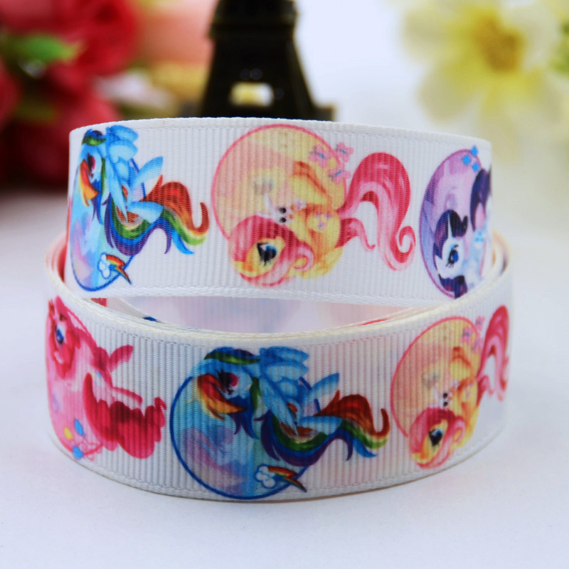 22mm Learned 7/8 Cartoon Character Printed Grosgrain Ribbon Party Decoration Satin Ribbons Oem 10 Yards X-00626