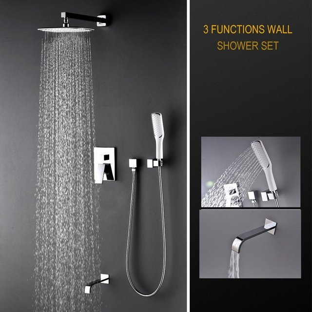 Artbath Luxury Rain Mixer Shower Combo Set Wall Mounted, 3 Way Shower  System With Rainfall