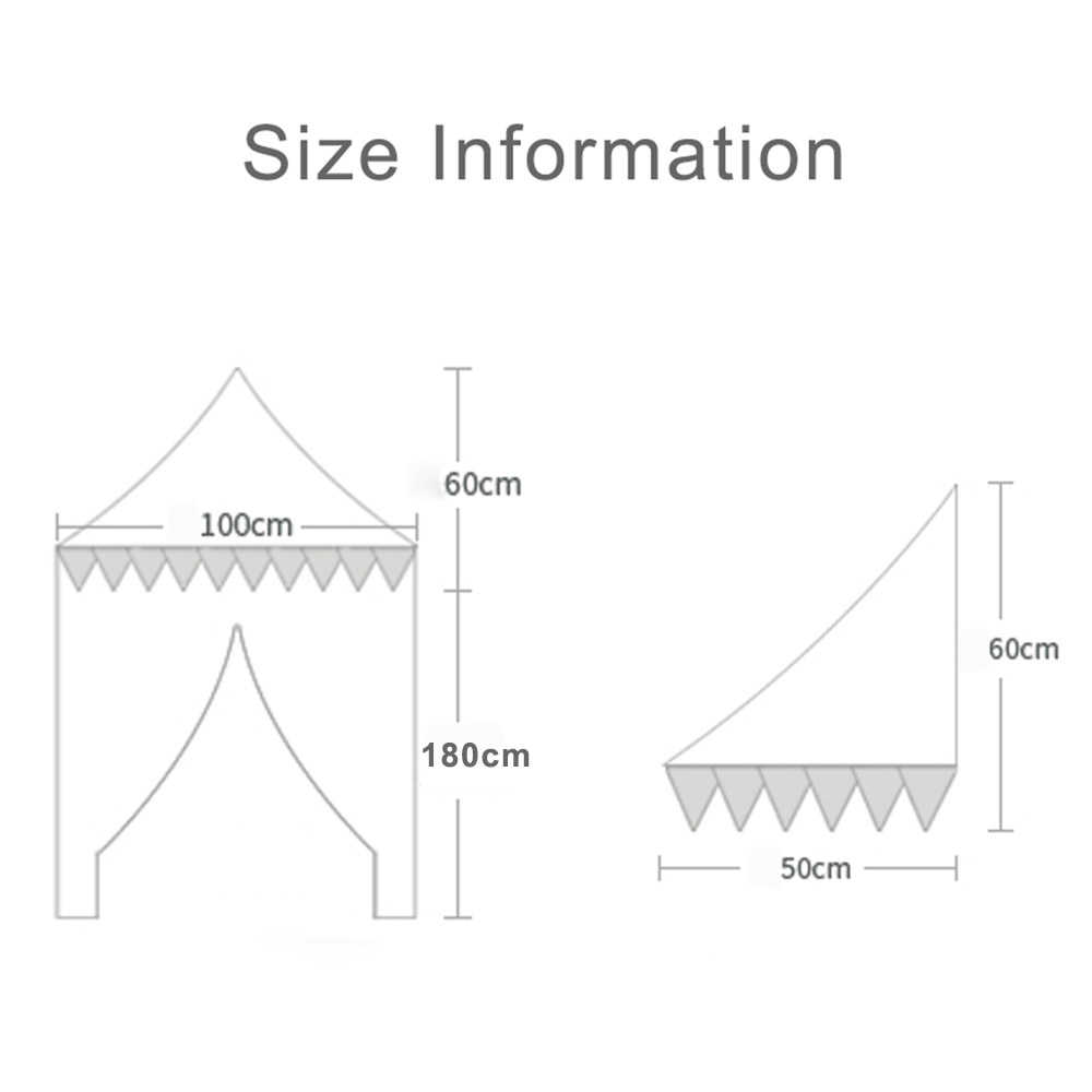 Children's Teepee Tent for Kids Canopy Drapes for Cribs Baby Girl Princess Canopy Bed Curtains Nursery Sofa Reading Corner Decor