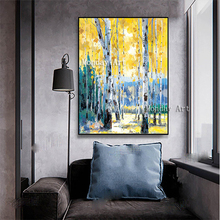 Hot art Hand-painted modern painting wall viem picture landscape Painting Decor for Living Room hotel