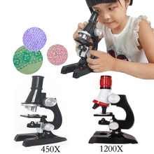 New action model Children 's educational science and biological microscope set model interest to cultivate toys