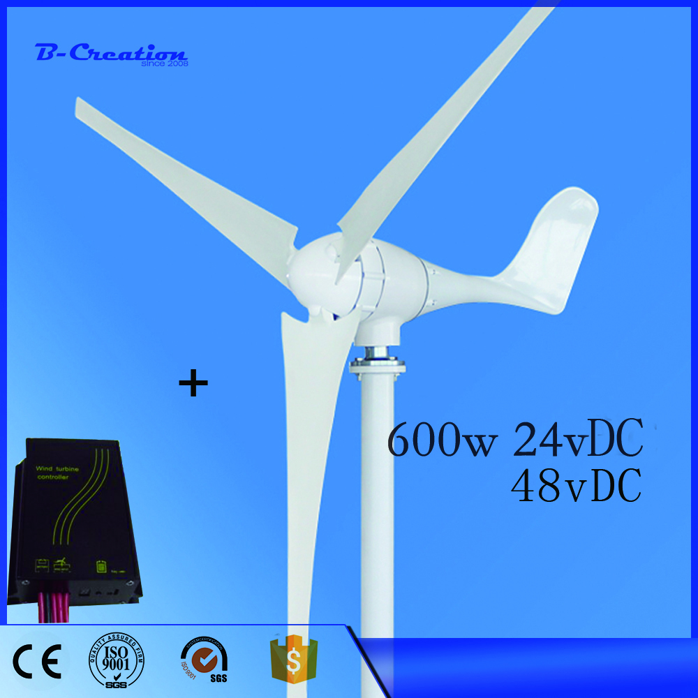 2017 Promotion Generador Eolico Ce,russia,rohs Approved 600w Wind For Turbine Generator,12v/24/48v Charge Controller Including