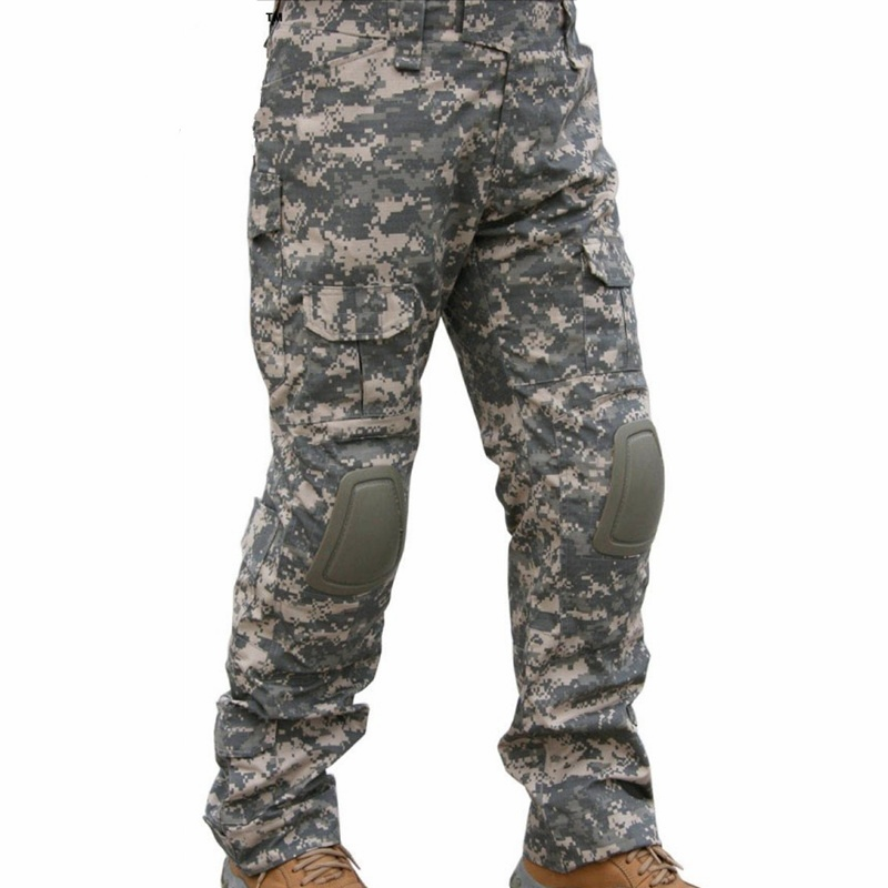 CQC Tactical Pants Cargo Men Military Army Hunting Airsoft Paintball Camouflage Gen2 BDU Combat Pants With Knee Pads ACU mgeg militar tactical cargo pants men combat swat trainning ghillie pants multicam army rapid assault pants with knee pads