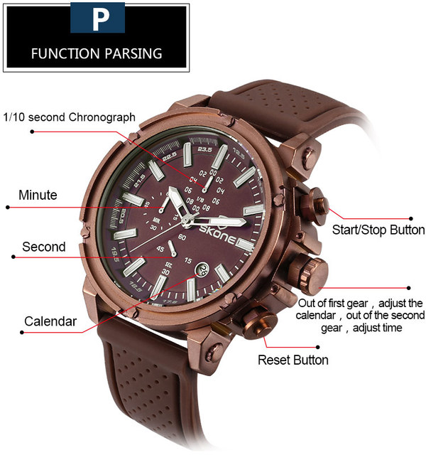 Chronograph Sport Mens Watch Top Brand Luxury Military Quartz For Men 2