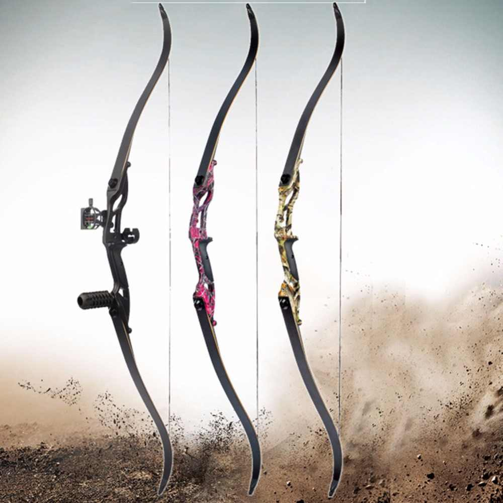 JUNXING 56 Inci Amerika Busur Berburu 30-50lbs Menggambar Berat FPS170-190 Recurve Busur Berburu Busur Memanah Aksesori
