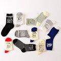 Animal lindo husky bordado mujeres calcetines de las mujeres calcetines de algodón perro encantador divertido kawaii meias calcetines TAMAÑO: EUR36-40