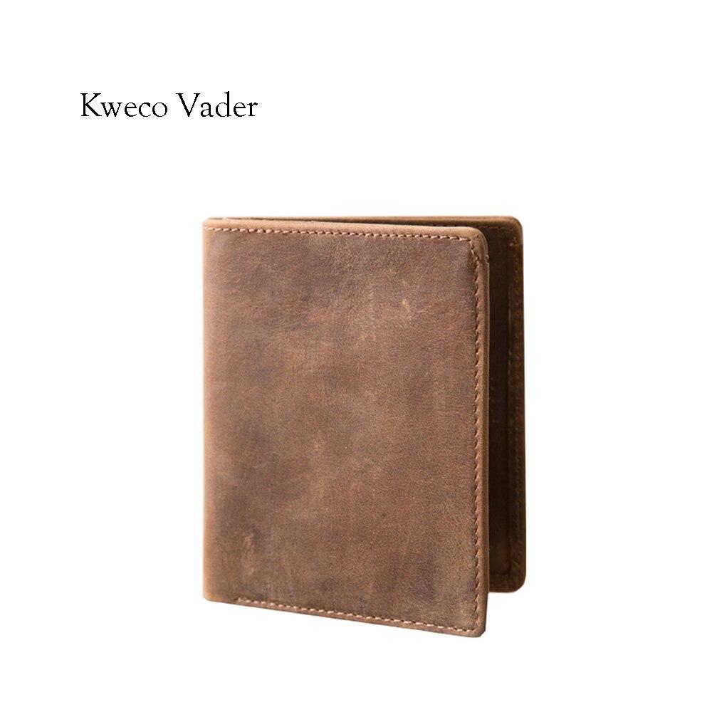 100% Genuine Leather Handmade Men Wallets 2017 New Luxury Brand Leather Purse Card Holder Mini Wallet Case Card Sets Bolsas