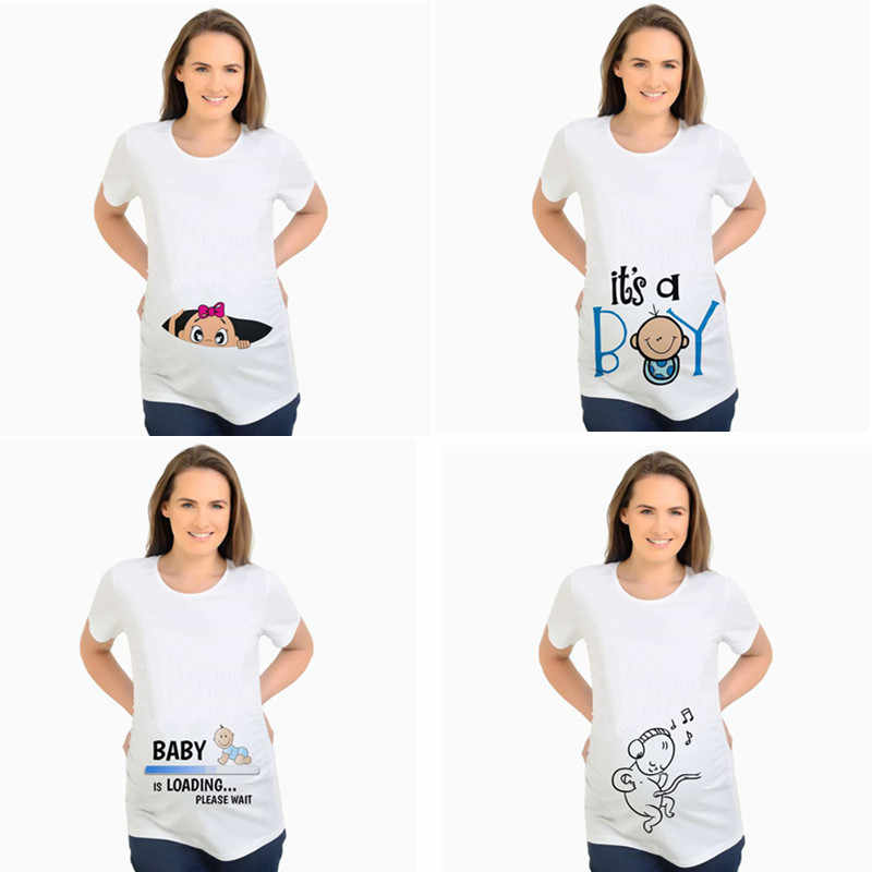 Women S T Shirts Slim Cartoon Maternity Tops Baby Is Loading Funny Pregnancy T Shirts Cotton T Shirt For Pregnant Women Tees 2xl T Shirts For Pregnant Women Maternity Topsfunny Pregnancy T Shirts Aliexpress