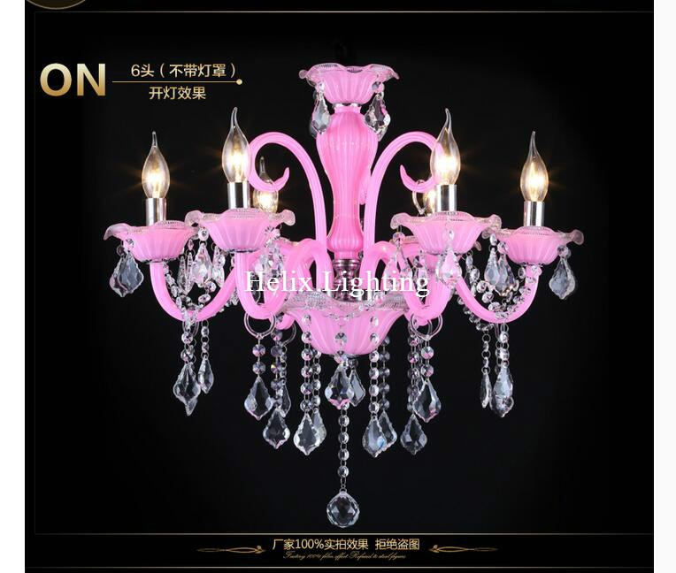 New Pink Pink K9 Clear Crystal Chandelier Luster Crystal Chandelier - შიდა განათება - ფოტო 4