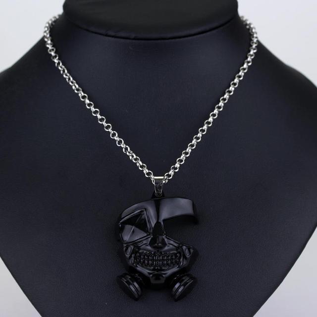 Anime Tokyo Ghoul Kaneki Ken Metal Mask Cosplay Necklace