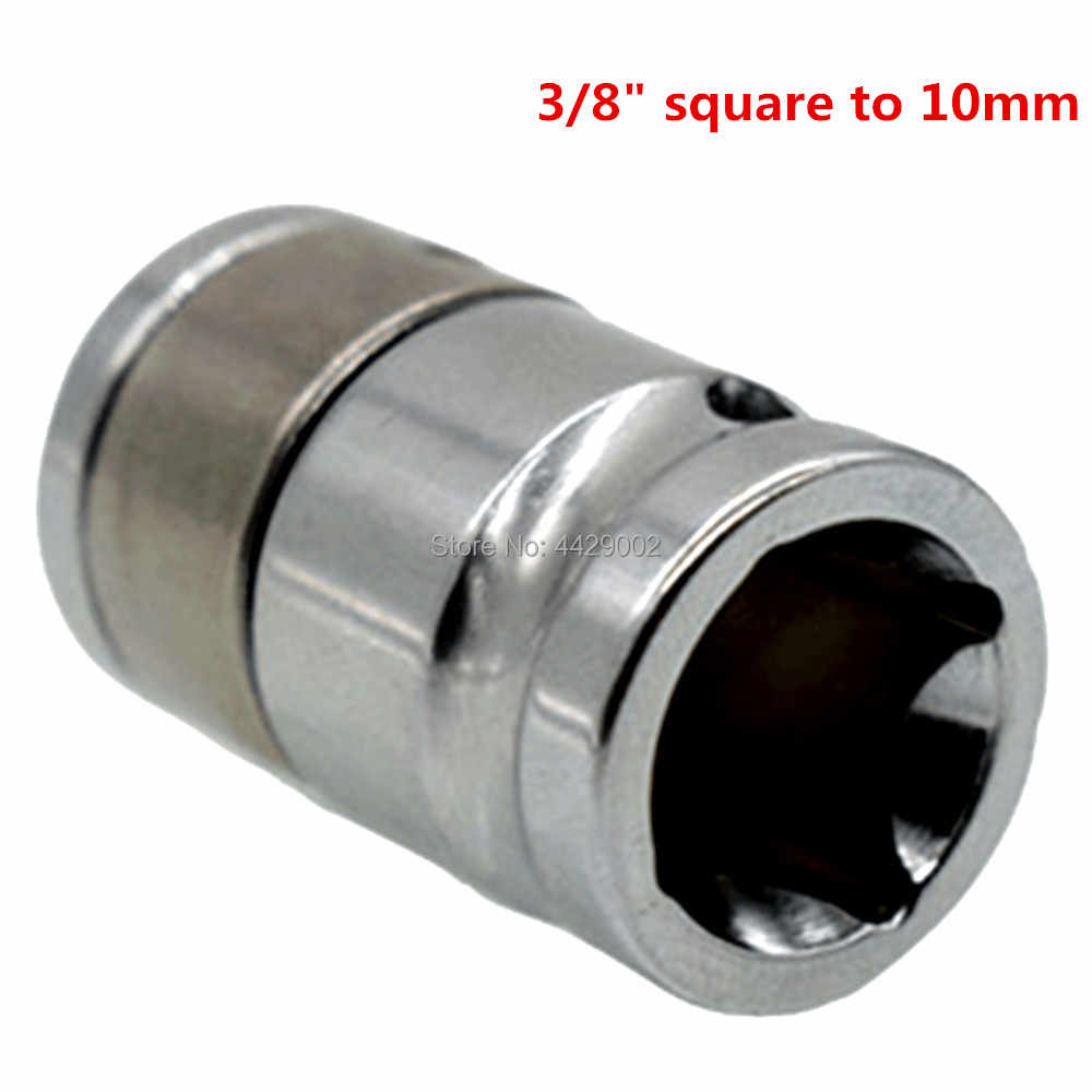 "3/8"" Square to 10mm Bit Adaptor Bit Socket Adaptor Impact Conversion Adaptor Converts Impact Wrench Quick Release Impact Chuck"