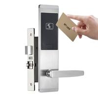Aço inoxidável apartamento eletrônico fechadura da porta furto cartão de desbloqueio para o escritório