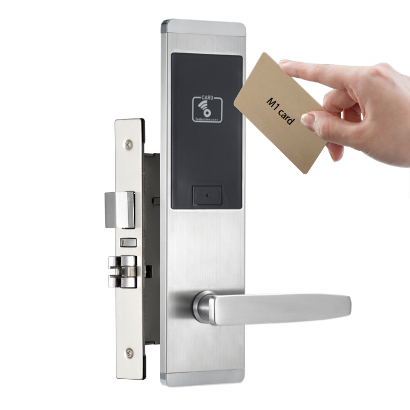 Stainless Steel Apartment Electronic Door Lock Swipe Card Unlock For Office