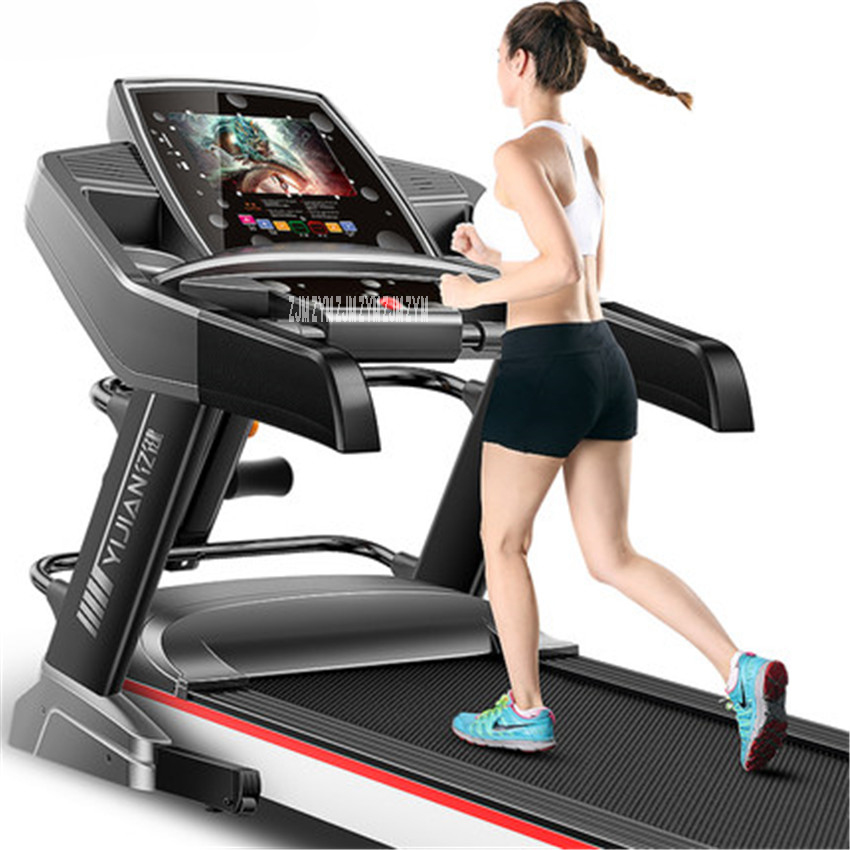 New F868 10.1 inch WIFI HD color screen Multifunctional Electric Treadmill Exercise Equipment Run Training Fitness indoor sports 2018 new pedal exercise bicycle mute household magnetic stationary exercise bike indoor fitness cycling equipment bicycle