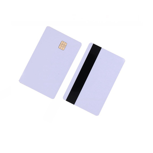Image 2 - 5pcs/10pcs White Blank PVC Contact Smart IC card with 4442 Chip + Magnetic Stripe 3 tracks HiCo