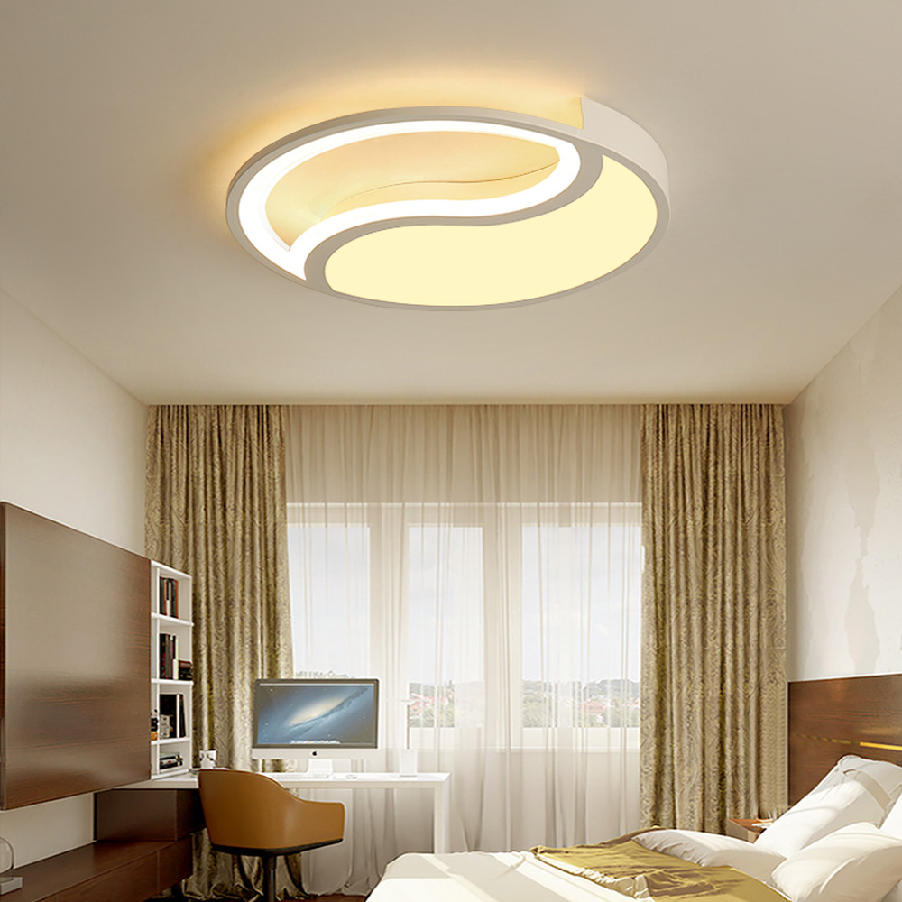 Creative design ceiling lamp geometry simple modern living room bedroom lamp Nordic personality round ceiling lights LU8101833