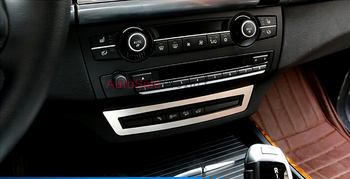 Stainless Steel Chromium Styling Inner Center Control Button Decorative Frame Trim 1pcs For BMW X6 E71 2009 2010 2011 2012-2014