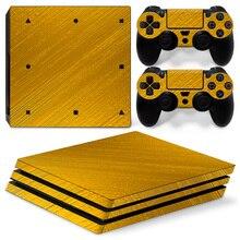 Золото для PS4 Pro кожи Стикеры для sony Playstation 4 Pro консоли и 2 шт. контроллера Бесплатная доставка