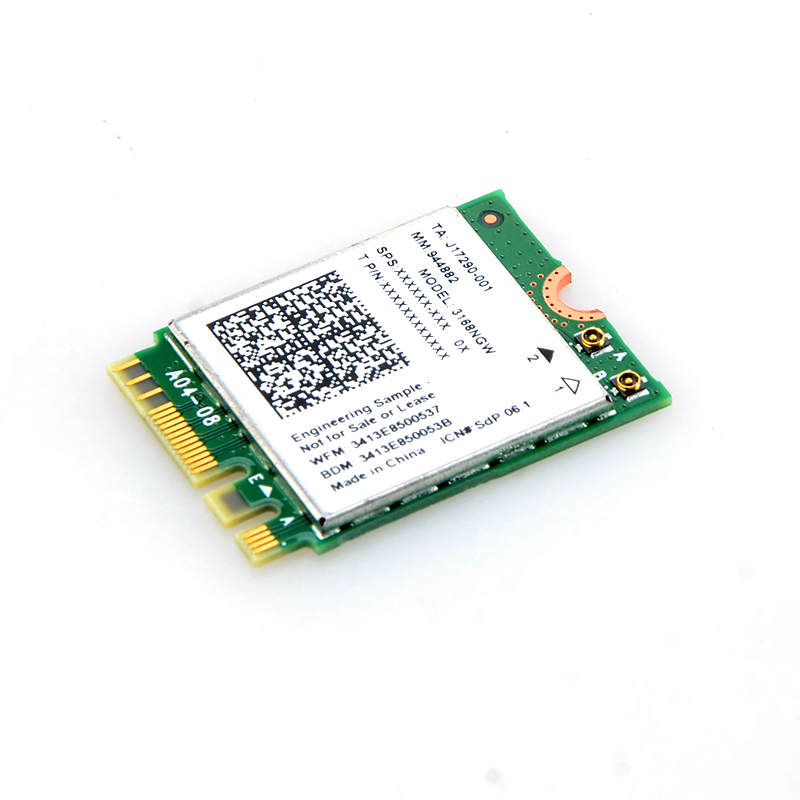 For Intel Wireless-AC 3168NGW 433Mbps Wifi & Bluetooth 4.2 M.2 PCIe Adapter