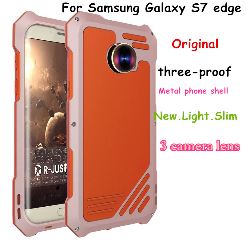 R just For S7 Dirt Shock proof Armor Metal Aluminum Phone Case For Samsung Galaxy S7