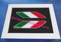 2pcs Car Italy Italian Flag Fender Side Wing Emblem Badge Sticker