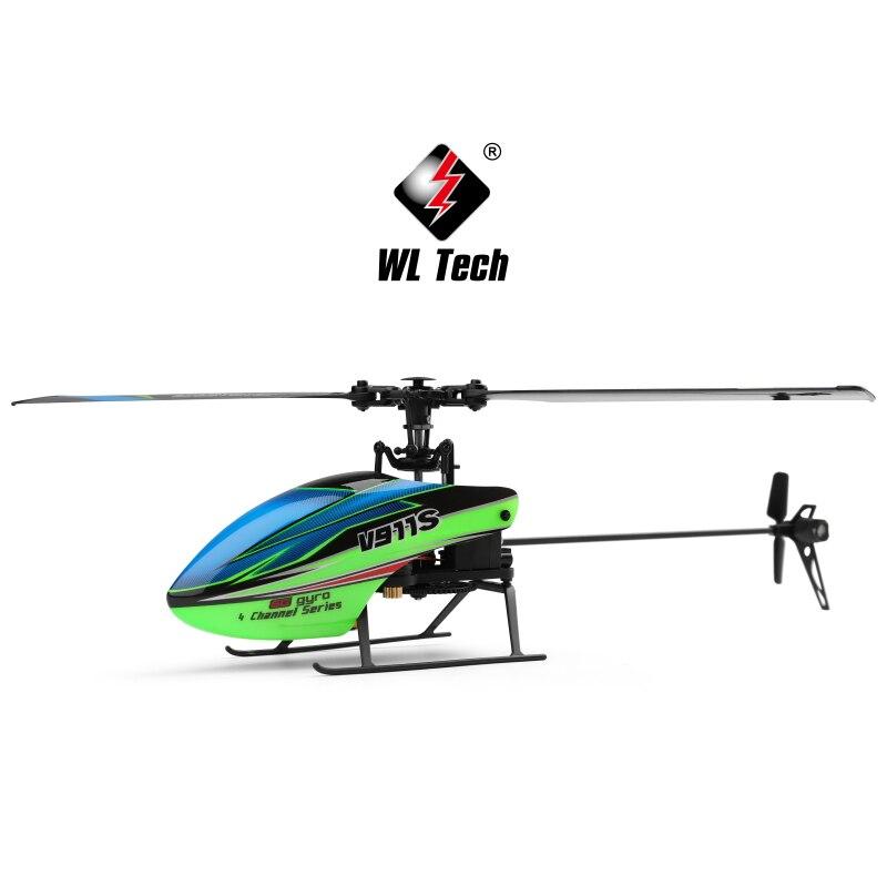 WLtoys V911S RC helicóptero 2,4G 4CH 6 Aixs Gyro helicóptero sin volante RC RTF helicóptero de Control remoto con Gyro resistente a los golpes-in Helicópteros RC from Juguetes y pasatiempos    3