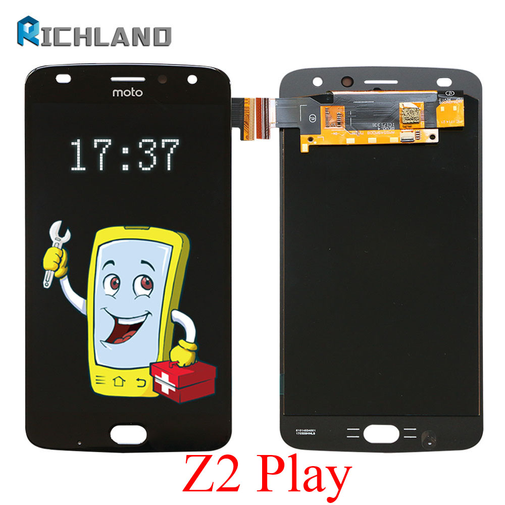 AMOLED LCD Display For Motorola Moto Z2 Play XT1710 XT1710-01/-07/-08/-09/-10 Touch Screen Digitizer assembly Replacement PartsAMOLED LCD Display For Motorola Moto Z2 Play XT1710 XT1710-01/-07/-08/-09/-10 Touch Screen Digitizer assembly Replacement Parts