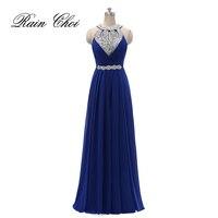 שמלת שושבינה הרשמי נשים הלטר מסיבת חתונת שמלת שיפון ארוך שושבינה שמלות 2018