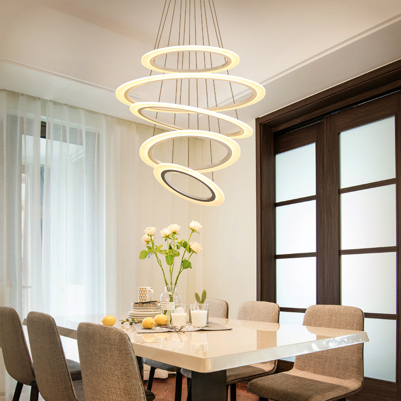 Ceiling Lights Modern Circular Led Ceiling Lamps Led Lighting Lamp Is Suitable For Dining Room Led Light Ring Lamp Voltage Ac 90-260v Choice Materials Ceiling Lights & Fans