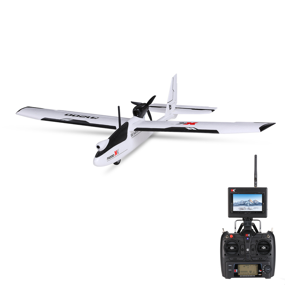 XK A1200 A1200-A Aeromodelo Plane 3D6G 5.8G FPV Camera Drone Quadcopter 6CH FUTABA S-FHSS RC Airplane  RTF VS Hubsan X4 H501S original xk k124 ec145 6ch brushless motor 3d 6g system rc helicopter compatible with futaba s fhss rtf vs wltoys v977