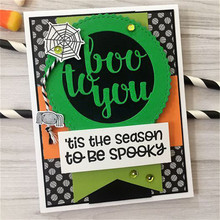 Eastshape 2019 New Clear Stamps Cutting Dies Scrapbooking Card Album Round Boo to You Rubber Decorative Stamp