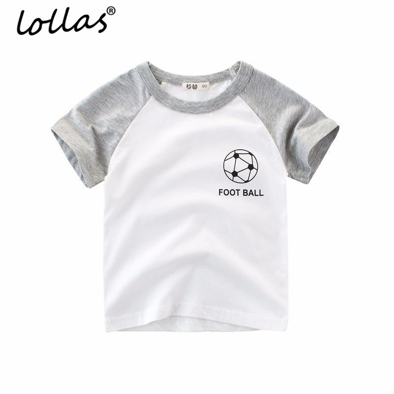 Lollas Boys Tops Summer 2018 Brand Children T shirts Boys Clothes Kids Tee Shirt 100% Cotton Sport Print Baby Boy Clothing