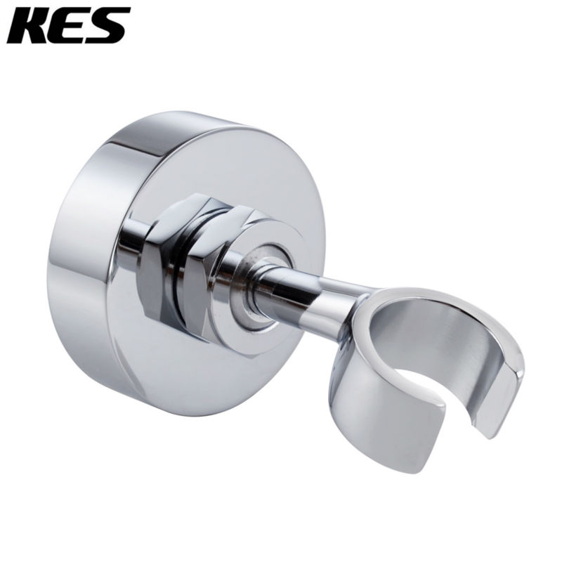 KES C213 Brass Shower Head Bracket Holder Stepless Adjustable Wall Mount, Polished ChromeKES C213 Brass Shower Head Bracket Holder Stepless Adjustable Wall Mount, Polished Chrome