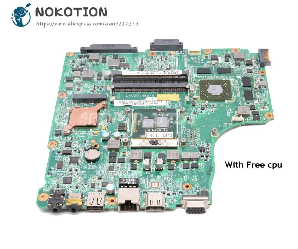NOKOTION For Acer Asipre 4745 4745G Laptop Motherboard MBPSL06001 DA0ZQ1MB8F0 HM55 DDR3 HD5650 1GB Free CPU