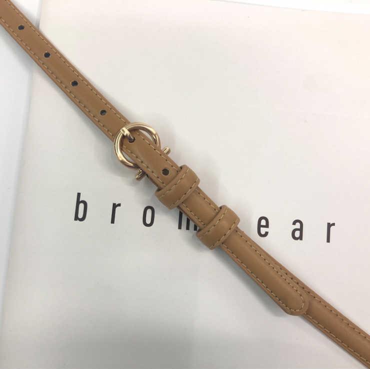 เข็มขัดผู้หญิงใหม่เข็มขัด Pin Buckles เข็มขัดหญิงหักด้านข้างหัวเข็มขัดทองกางเกงยีนส์ป่าเข็มขัดแฟชั่นนักเรียน