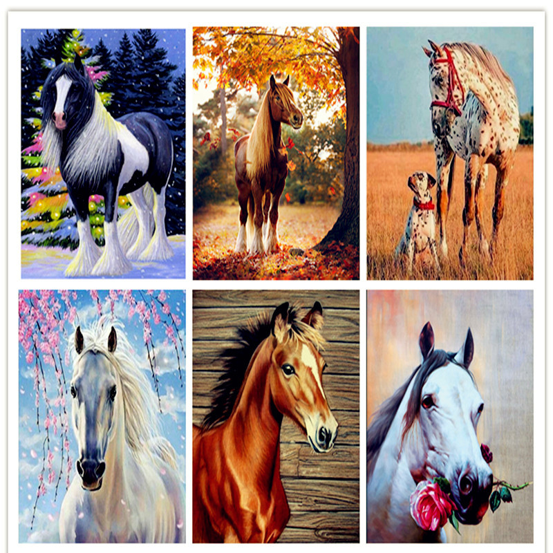 5D Diamond Painting Full Drill Paint with Diamonds Cross Stitch Craft Kit Embroidery Rhinestone Arts for Home Decor Tiger 12x14