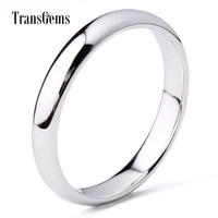 TransGems 7 Carat Karat Solid 14K White Gold Matching Wedding Band Comfort Fit Ring For Women
