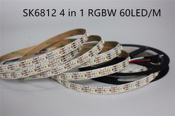 5m Addressable SK6812 RGBW RGBWW RGBNW led strip 4 Color in 1 Led Non waterproof IP20 60 leds/pixles/m 5V similar WS2812B