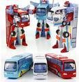 Novo estilo Robocar poli Robot transformação ônibus liga brinquedos carro deformação robô policial Bus brinquedos para crianças crianças de 3 cores
