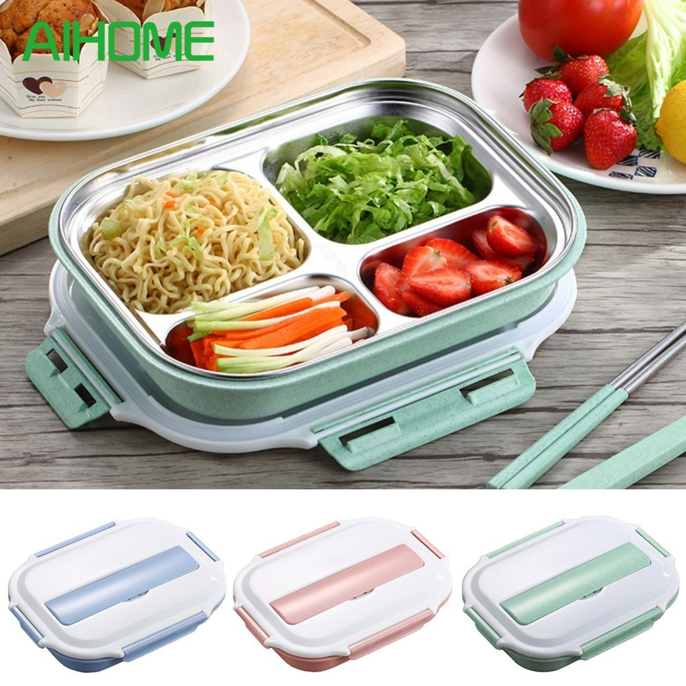 Container Store Lunch Box: 1.6L Stainless Steel Insulated Lunch Box Thermal Bento
