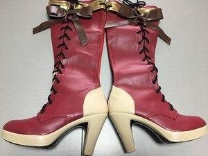 Image 3 - Disfraces de halloween para mujer, botas de traje de violet evergarden, zapatos de cosplay, Anime japonés, adultos, fantasía, zapato de vestir, 2019