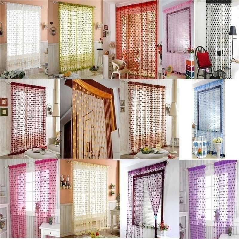 200x100 cm מודרני חמוד פלאש קו מבריק טאסל מחרוזת דלת וילון חלון חדר מפריד אלאנס עיצוב הבית