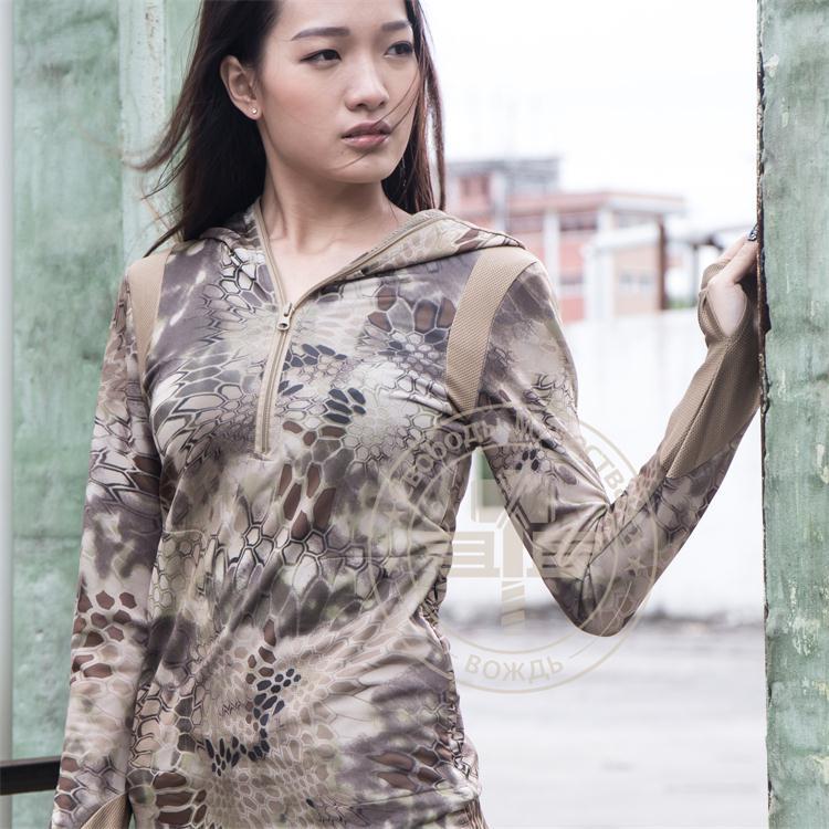Kryptek typhon camo žene hoodie, lova brzo suha djevojka, taktička - Sportska odjeća i pribor - Foto 4