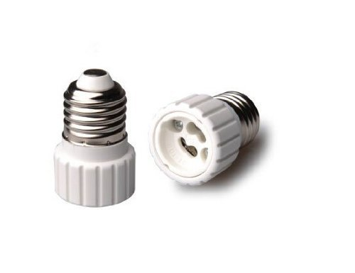 1pc E27 To GU10 Converter LED Light Lamp Bulb Adapter Adaptor Screw Socket Ceramic Material Converter Socket Light Bulb