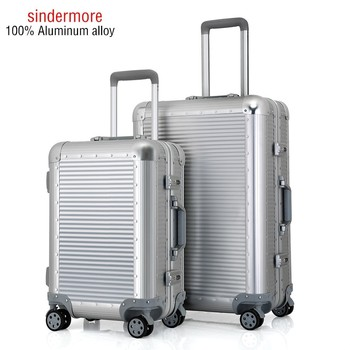 Sindermore 100% All Aluminum Luggage Hardside Rolling Trolley Luggage Suitcase 20