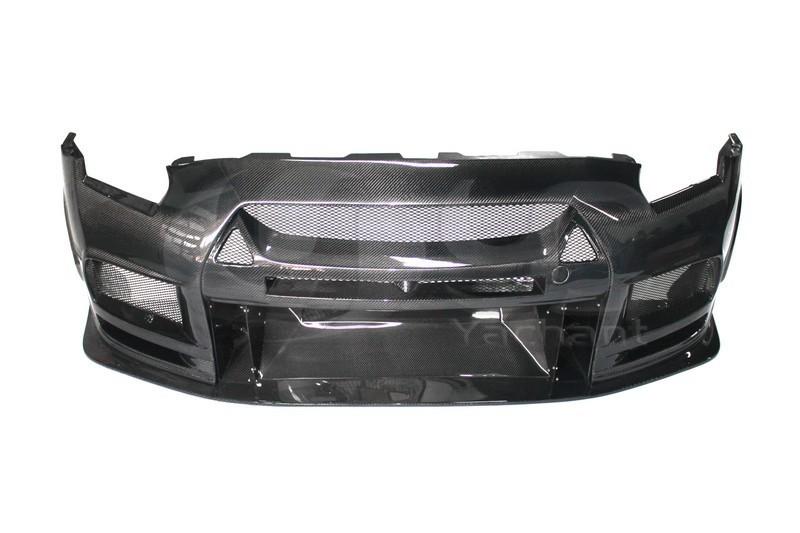 2008-2013 Nissan  R35 GTR CBA DBA TP Style Wide Front Bumper CF (1)