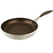 Сковорода без крышки Rondell Latte 24 см RDA-283 (Диаметр 24 см, штампованный алюминий, антипригарное покрытие, толщина стенок и дна 3,5 мм, подходит для всех плит, подходит для посудомойки)