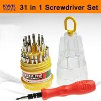 31 In 1 Precision Handle Screwdriver Set Magnetic Mobile Phone PC Repair Kit Tools Hex Torx Flexible Pocket Portable Manual|repair kit tool|kit tools|pc repair -