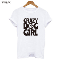Ladies Crazy Dog Girl T Shirt Cute Animal Puppy Doggie Lover T Shirt Funny Harajuku T